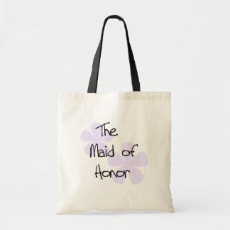 Lilac Flowers Maid of Honor Tote Bag