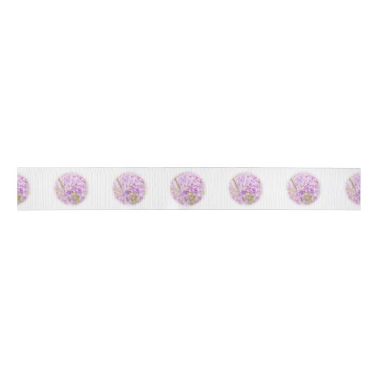 Lilac Flowers Mist Grosgrain Ribbon