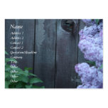 Lilac Flowers & Old Wood Profile Card Pack Of Chubby Business Cards