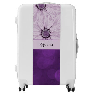 Lilac Flowers & Purple Bokeh Luggage