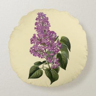 Lilac Flowers Round Cushion