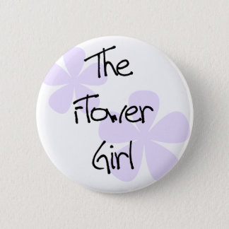 Lilac Flowers The Flower Girl 6 Cm Round Badge