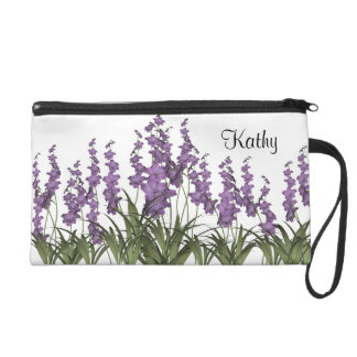 Lilac Flowers Wristlet Clutches