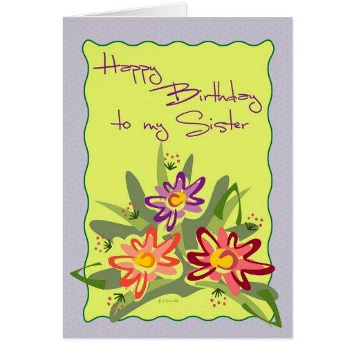 Lilac Framed Flowers-BDSis Card