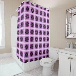 Lilac Geometric Crop Circle Inspired Shower Curtain