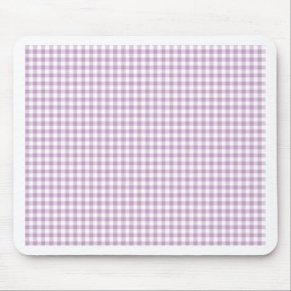Lilac Gingham Mouse Pad