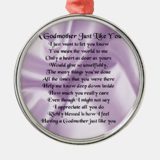 Lilac   Godmother Poem Christmas Ornament