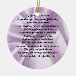 lilac   Granddaughter Poem Christmas Ornament