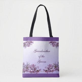 Lilac Grandmother of the Groom Wedding Tote Bag
