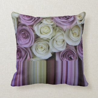 Lilac Graphic rose throw pillow
