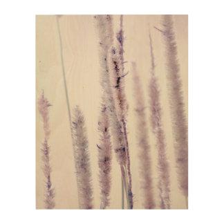 Lilac grasses wood wall decor