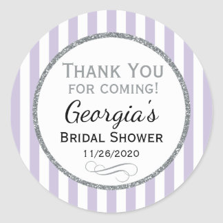 Lilac Gray Bridal Shower Thank You Grey Favor Tags