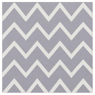 Lilac Gray & White Chevron Fabric