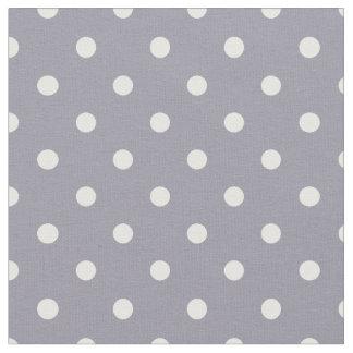 Lilac Gray & White Polka Dot Fabric