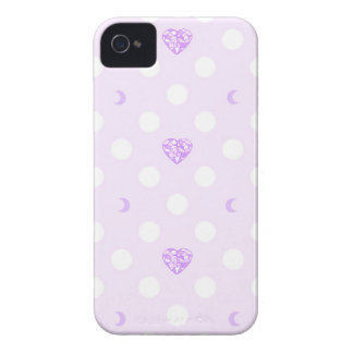 Lilac Heart Crystals, Moons, and Polka Dots iPhone 4 Covers