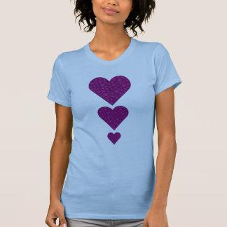 Lilac hearts inside purple heart tank top