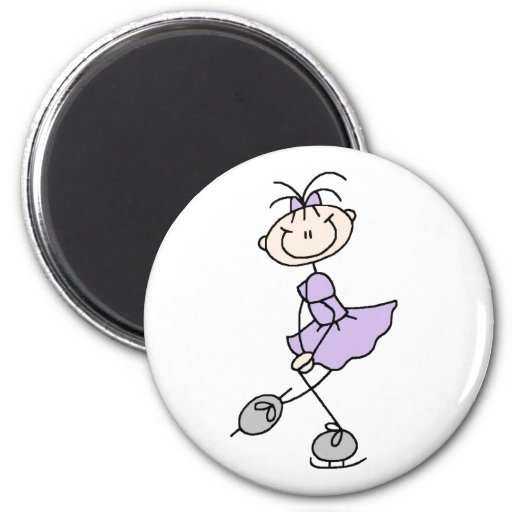 Lilac Ice Skating Girl Magnet