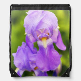 Lilac Iris Drawstring Backpack