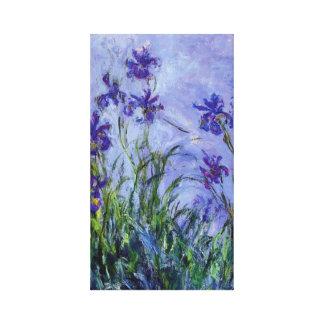 Lilac Irises Monet Fine Art Canvas Print