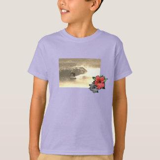 lilac-Island-beach-surf-Tee-for-kids T-Shirt