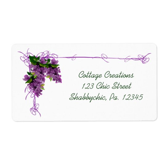 Lilac Label Shipping Label
