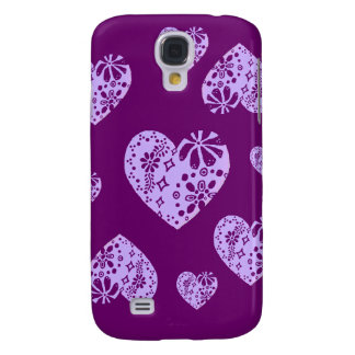 Lilac Lace Heart Galaxy S4 Case