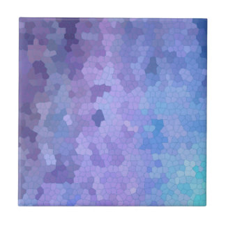 Lilac & Lavendar through Stained Glass Small Square Tile