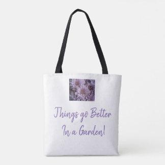 Lilac Lavender Mum Tote bag