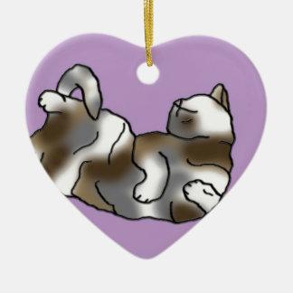 Lilac Lounger Ceramic Heart Decoration