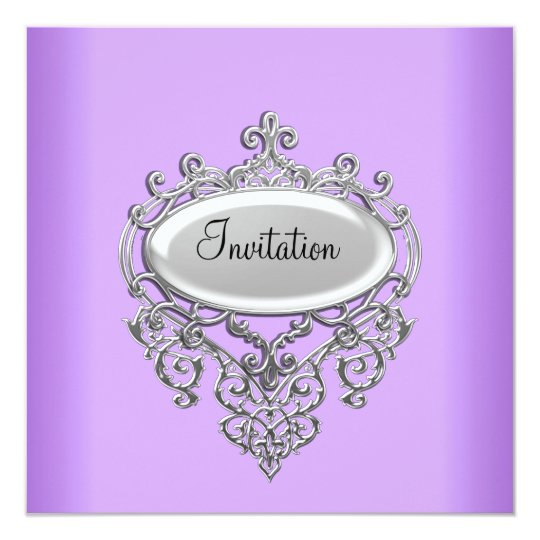 Lilac/Mauve Invitation any Occasion
