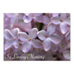 Lilac Memorial Service Funeral Invitation 13 Cm X 18 Cm Invitation Card