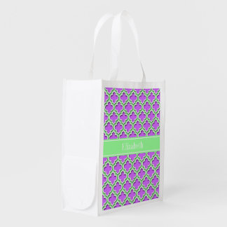 Lilac, Mint Green Moroccan #5DS Mint Name Monogram