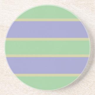 Lilac / Mint Stripes custom coaster