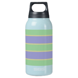 Lilac / Mint Stripes custom Insulated Water Bottle