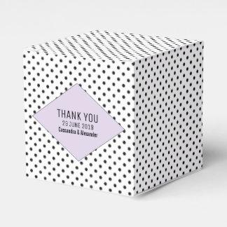 Lilac Modern Polka Dots Wedding Favour Box