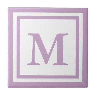 Lilac Monogrammed Tile