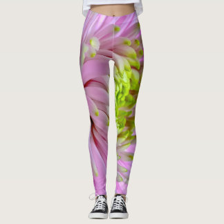 Lilac mums leggings