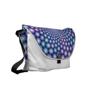 Lilac Orbs Courier Bag