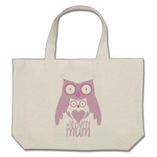 Lilac owl mom bags