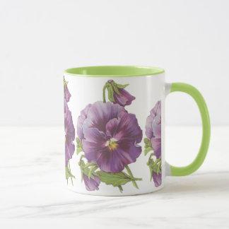 Lilac pansy mug