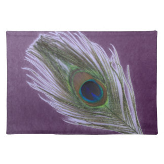 Lilac Peacock Feather D Placemat