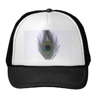 Lilac Peacock Feather Trucker Hat