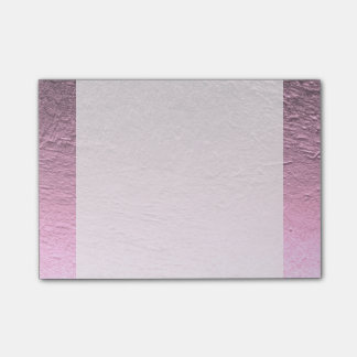 Lilac pink gradient aluminum grunge post-it notes