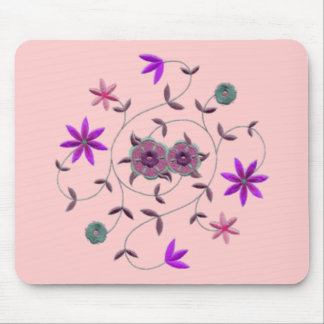 Lilac Plum Spring Flower Garden Mouse Pad