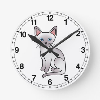 Lilac Point Siamese Cat Wallclock