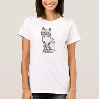 Lilac Point Tabby Birman / Ragdoll Cat T-Shirt
