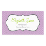 Lilac Polka Dot Pack Of Standard Business Cards
