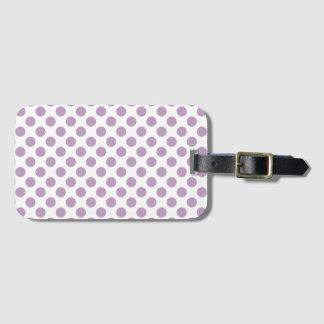 Lilac Polka Dots Luggage Tag