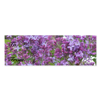Lilac Profile Card Pack Of Skinny Business Cards