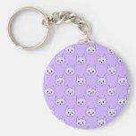 Lilac Purple cat pattern. Key Chains